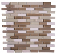 Merola Victoria Glass Mosaic Sand Interlocking Tile G-261