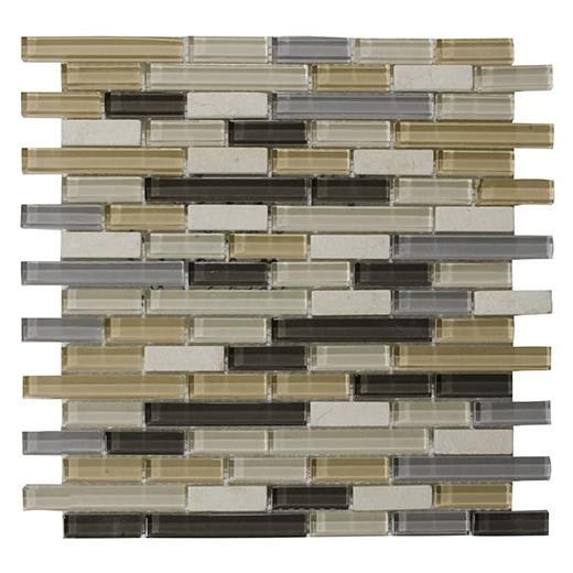Merola Victoria Glass Mosaic Desert Interlocking Tile G-260
