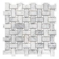 Merola Basketweave Carrara & Thassos White Tile MER-BSKT-CAR-THWT