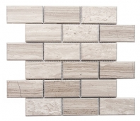 Merola Beveled Wooden White Subway Tile MER-BVL-WDN-WT