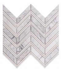 Merola Chevron Carrara & Thassos Tile MER-CHEV-CR