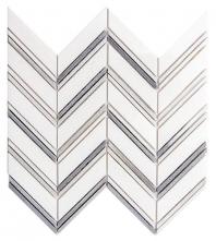 Merola Chevron Thassos White Tile MER-CHEV-THWT