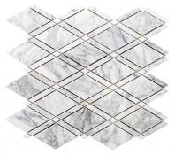 Merola Diamante Carrara & Thassos White Tile MER-DIA-CAR-THWT