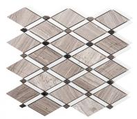 Merola Diamante Wooden White Tile MER-DIA-WDN-WT