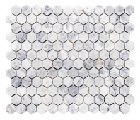 Merola Hex Cararra Tile MER-HEX-CAR