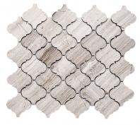 Merola Lantern Arabesque Wooden White Tile MER-ARAB-WDN-WT