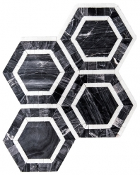 Merola Roman Hex Carrara Tile MER-RHEX-CAR