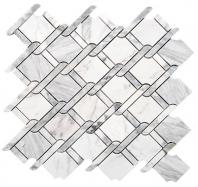 Merola Rope Carrara White & Carrara Grey Tile MER-ROPE-CAR-WT-GREY