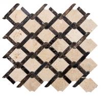Merola Rope Dark Emperador & Crema Marfil Tile MER-ROPE-DRK-EMP