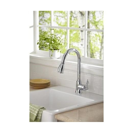 Danze Prince Single Handle Kitchen Pull-Down Faucet Stainless Steel