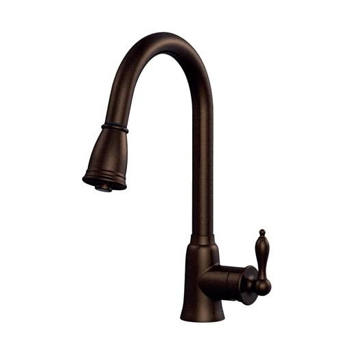 Danze Prince Single Handle Kitchen Pull-Down Faucet Tumbled Bronze