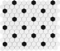 Anatolia Soho 1 Hex Matte White W/Black AC51-071