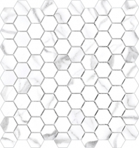 Anatolia Mayfair 1 Hexagon Polished Statuario Venato AC69-923