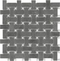 Anatolia Marble Basketweave Polished Stark Carbon AC76-419