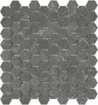 Anatolia Marble 1x1 Hexagon Polished Stark Carbon AC76-420