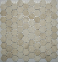 Anatolia Travertine 1x1 Hexagon White ACMS730