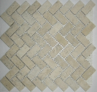 Anatolia Travertine 1x2 Herringbone White ACMS740