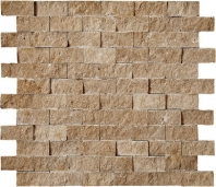 Anatolia Travertine 1x2 Mosaic Noce Honed ACNS231