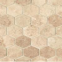 Alys Edwards Elongated Hexagon 2x2 Cappuccino AECROCEHEXCAP1011