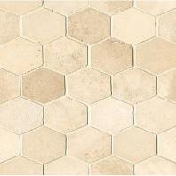 Alys Edwards Elongated Hexagon 2x2 Creme AECROCEHEXCRE1011