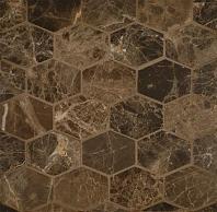 Alys Edwards Elongated Hexagon 2x2 Espresso AECROCEHEXESP1011