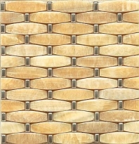 Alys Edwards 3-D Weave 11x11 Honey Onyx/Metal AECMODHOWVE