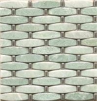 Alys Edwards 3-D Weave 11x11 Ming Green/Metal AECMODMGWVE