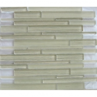 Arvex Silk Linear Fabric Modern Beige Interlocking Tile ARSKMODBELIN