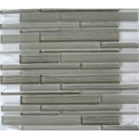Arvex Silk Linear Fabric Modern Grigio Interlocking Tile ARSKMODGRLIN