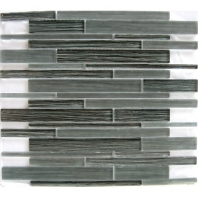 Arvex Silk Linear Fabric Modern Nero Interlocking Tile ARSKMODNELIN