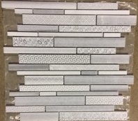 Milstone Engraved Grey Interlocking Mosaic Tile ML300278