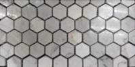 Milstone Bianco Carrara Polished 1x1 Hexagon Tile ML3230303