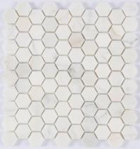 Milstone Calacatta Polished 1x1 Hexagon Tile ML38203003