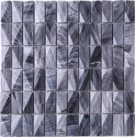 3D Stacked Stone Mosaic Tile Dark Grey J3DCT2