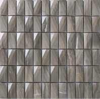 3D Stacked Stone Mosaic Tile Dark Beige J3DCT4
