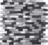 3D Brick Metal Aluminum Mosaic Tile JAFD4