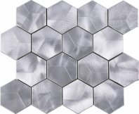 Hexagon Metal Aluminum Mosaic Tile JAFD5
