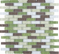Green Brick Glass Mosaic Tile JBCD2