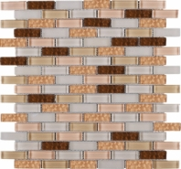 Cinnamon Brick Glass Mosaic Tile JBCD3