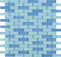 Maldives Blue Brick Glass Mosaic Tile JBCD8