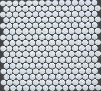 White Round Porcelain Mosaic Matte Tile JBTPM1