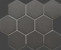 Hexagon Dark Grey Porcelain Mosaic Tile Matte JBTPM4