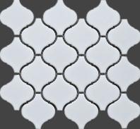 White Lantern Arabesque Matte Porcelain Mosaic Tile JBTPM5