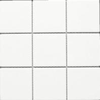 White Square 4x4 Porcelain Mosaic Tile Matte JBTPM9