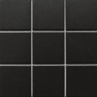 Black Matte Square 4x4 Porcelain Mosaic Tile JBTPM14