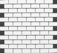 White Porcelain Matte 1x2 Brick Porcelain Mosaic Tile JBTPM15