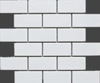 White Porcelain Matte 2x4 Brick Porcelain Mosaic Tile JBTPM16