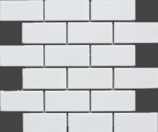 White Porcelain Matte 2x4 Brick Mosaic Tile Jbtpm16
