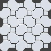 White Round Matte Porcelain Mosaic Tile JBTPM17