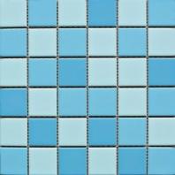 Square 2x2 Grid Porcelain Creamy Blue Mosaic Tile JBTPM21